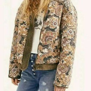 Free People Huntress, Quilted Jacket L 008-0023
